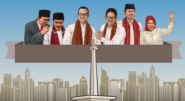 Janji 3 Pasang Cagub-Cawagub DKI Atasi Kemiskinan Jakarta