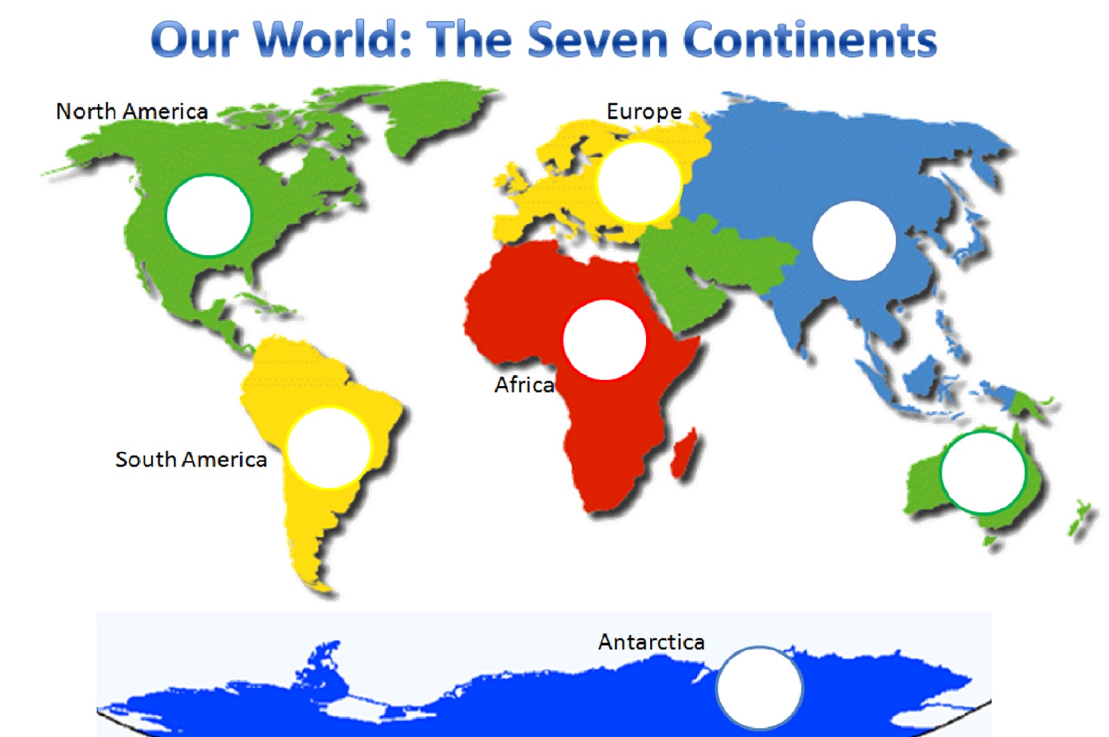 7 Continents Geography Worksheet