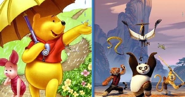 winnie the pooh vs po the kung foo panda - Drawception