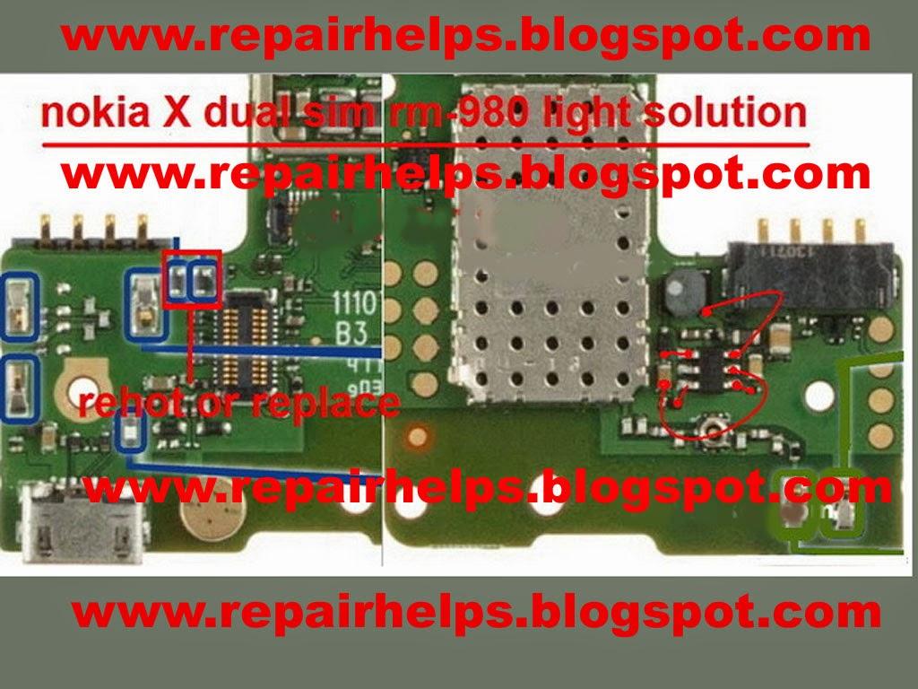 Repair Helps Nokia X Display Light Ways Jumper Solution