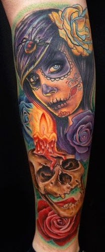 Tatuaje de catrina cartoon