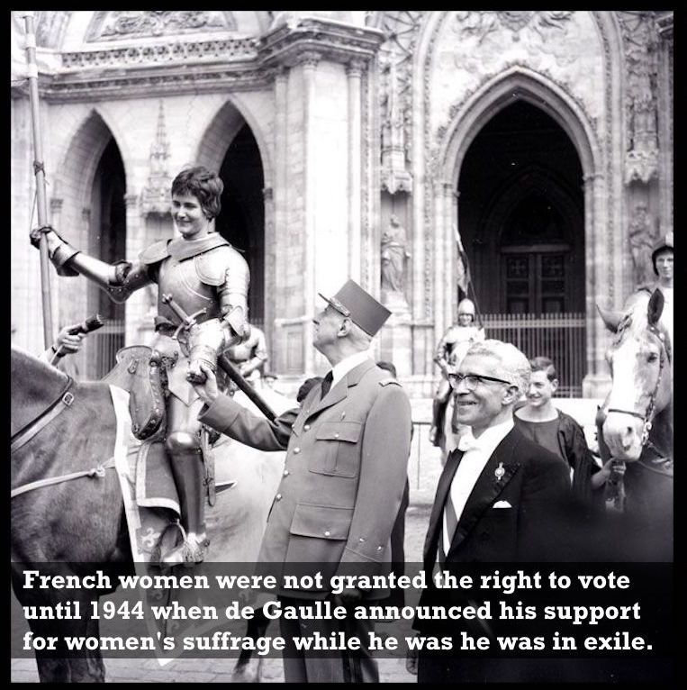 Charles De Gaulle at the Joan of Arc festival in Orleans 1959