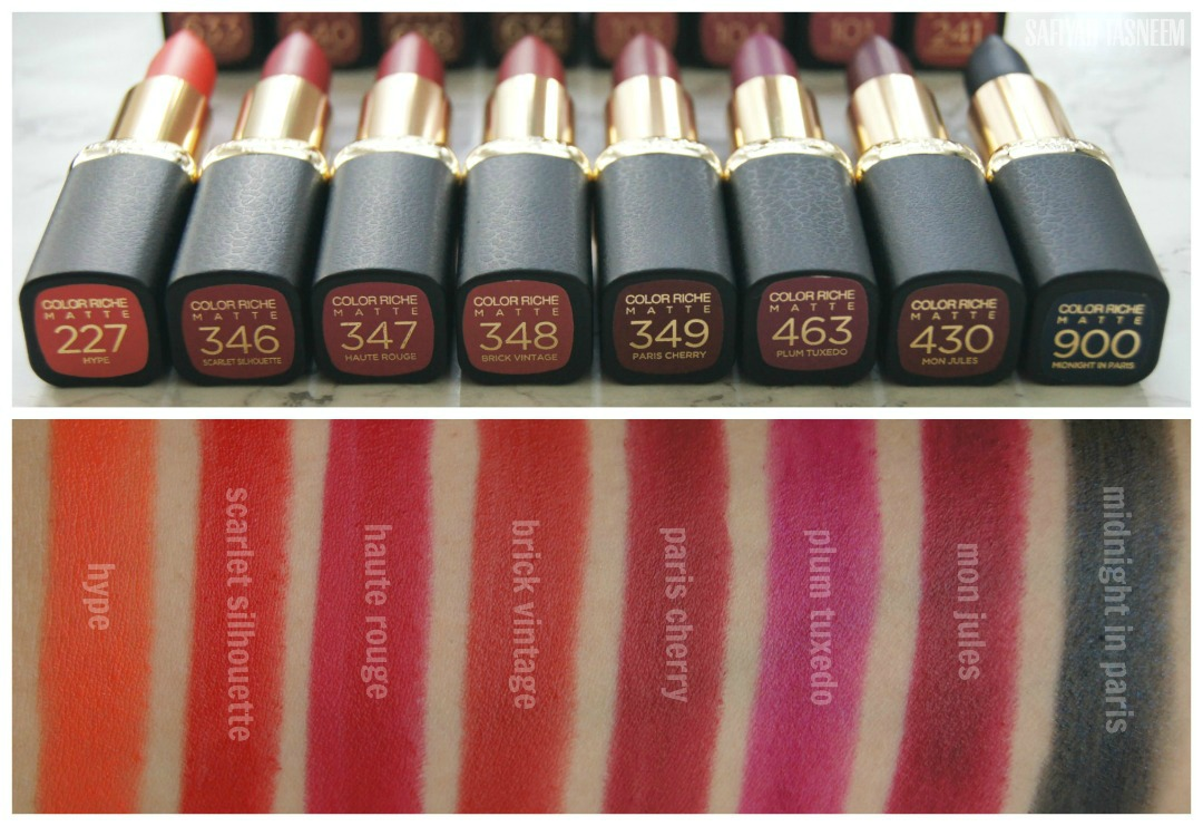 L Oreal Paris Color Riche Matte Addiction Lipstick