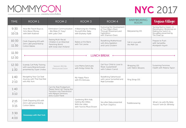 MommyCon 2017 Schedule