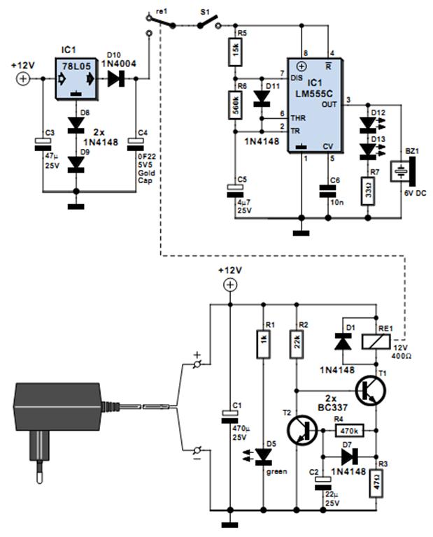 power failure alarm circuit