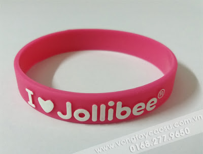 Vòng tay cao su đổ nổi I love Jollibee