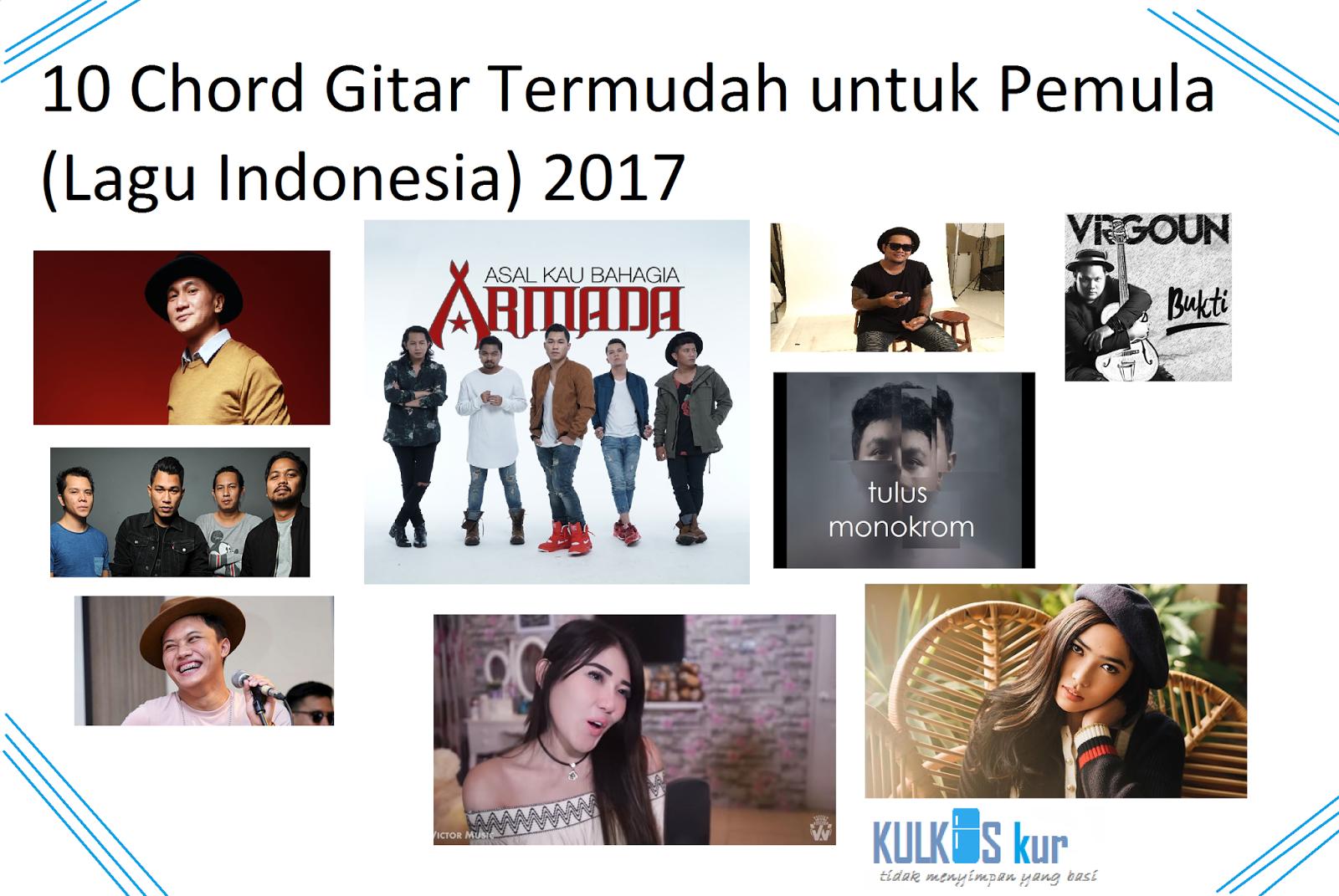 10 Lagu Indonesia Dengan Chord Gitar Termudah Part 3 2017 Bukan Menggurui