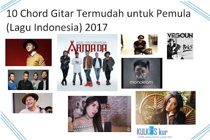 """10 Lagu Indonesia dengan Chord Gitar Termudah """"Part 3"""" 2017"""