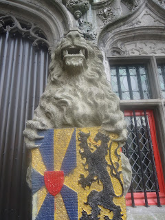 Bruges - Holy Blood Chapel - West Flanders Belgium- Lion