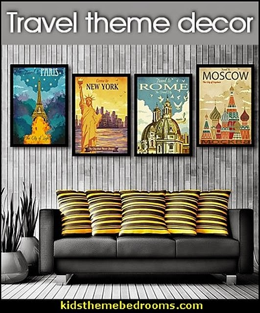 Travel Theme Decorating Ideas Global Decor World Travel Decorating Around The World Theme