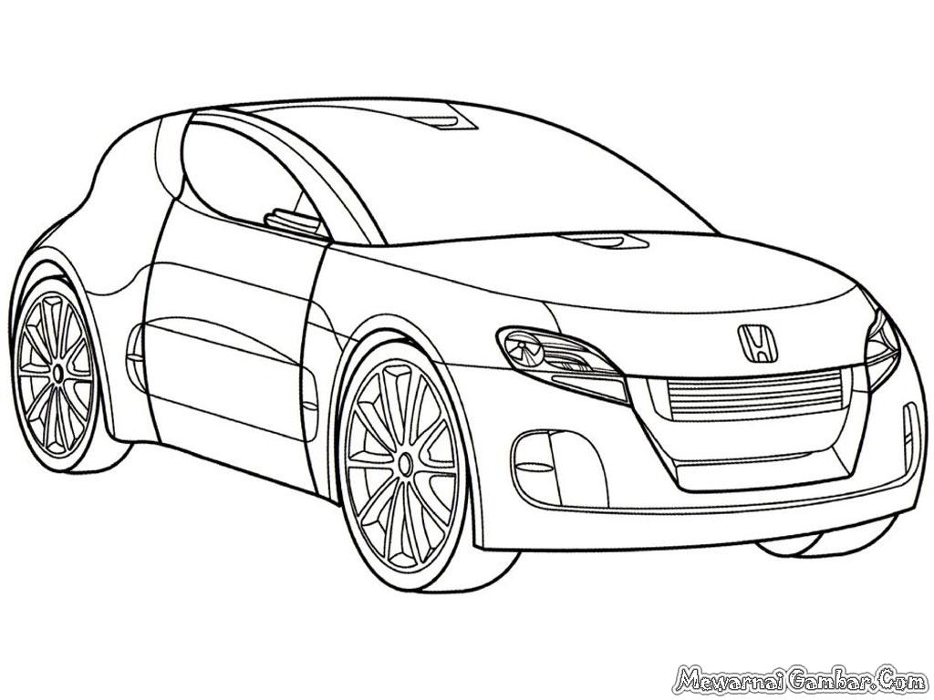 Gambar Mobil Honda Untuk Diwarnai Anak | Mewarnai Gambar