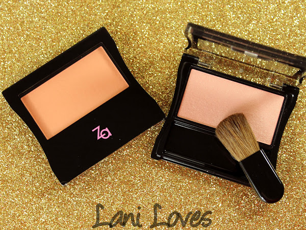 ZA Cheeks Groovy Blusher - #01 Glowing Pink and #04 Apricot Pink Swatches & Review