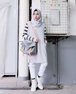 model hijab remaja casual modern