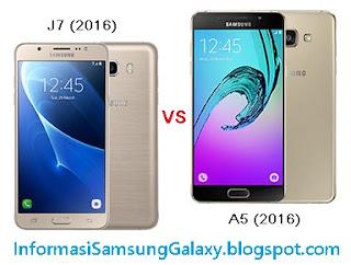 Harga dan Spesifikasi Samsung Galaxy J7 (2016) vs A5 (2016)