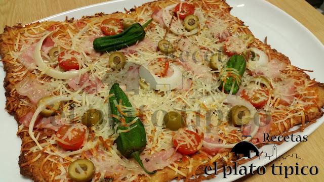 Pizza de coliflor base de pizza de coliflor recetas de coliflor