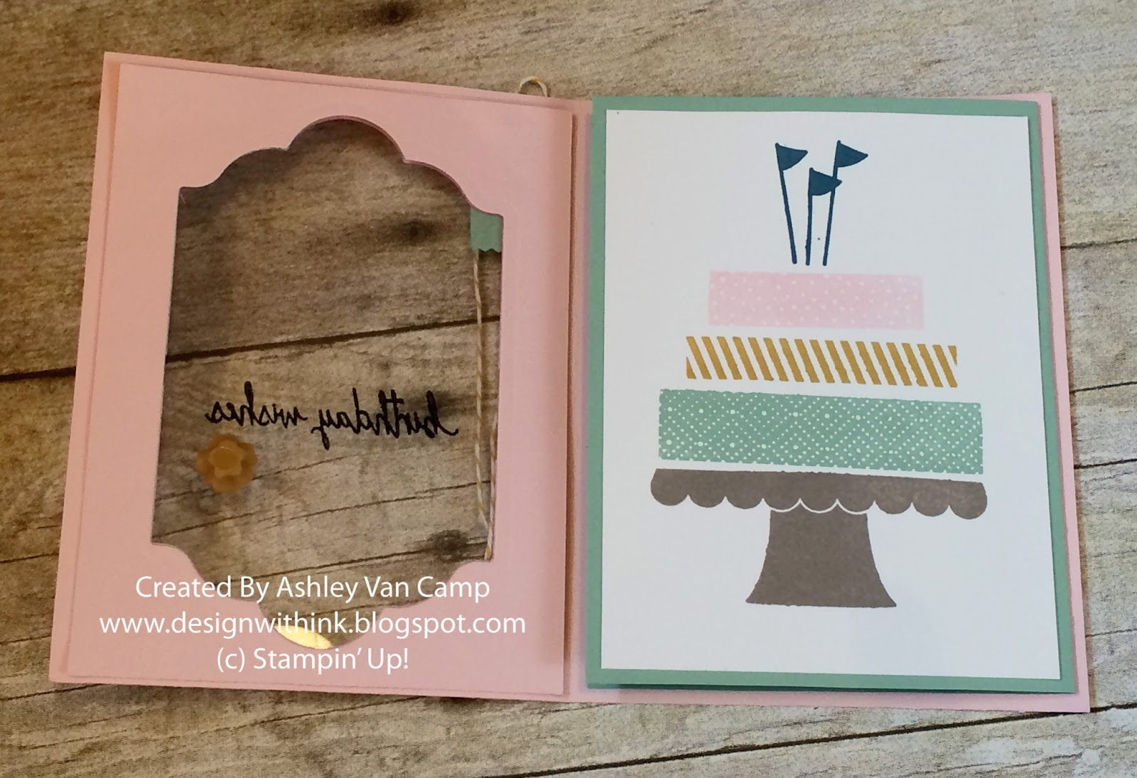 design with ink  august club card   build