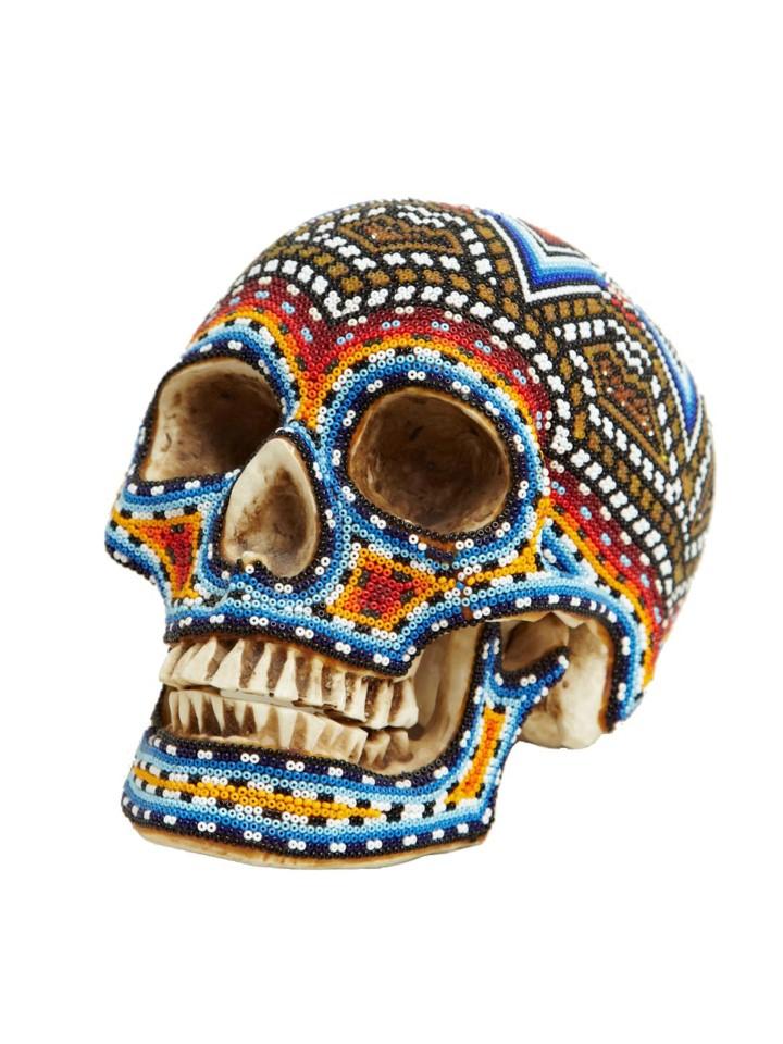 Изысканные черепа. Huichol Skull 20
