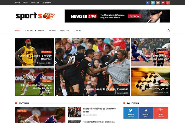 SportsMag – Responsive Magazine Blogger Template