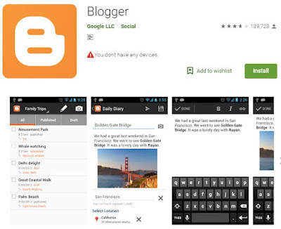 Android app for Blogger