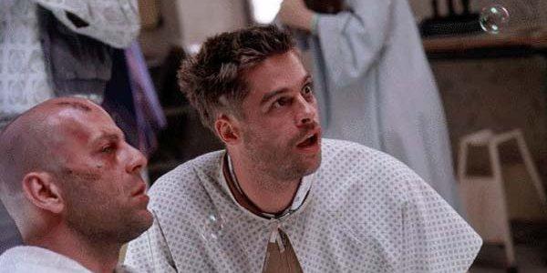 Brad Pitt and Bruce Willis in Twelve Monkeys