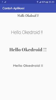 Contoh Hasil Tampilan font TextView Aplikasi Android