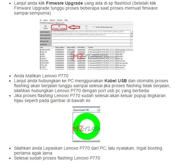 Cara Flash Lenovo P770 Bootloop Menggunakan Flashtool