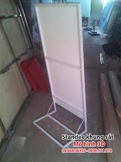 Xưởng standee chuyên standee khung sắt giá cạnh tranh nhất TP.HCM