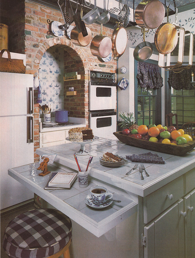 Kitchen Island Chairs With Backs Vintage Goodness 1.0: Vintage 80's Home Decorating Trends
