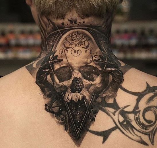 Back Neck Tattoos For Men