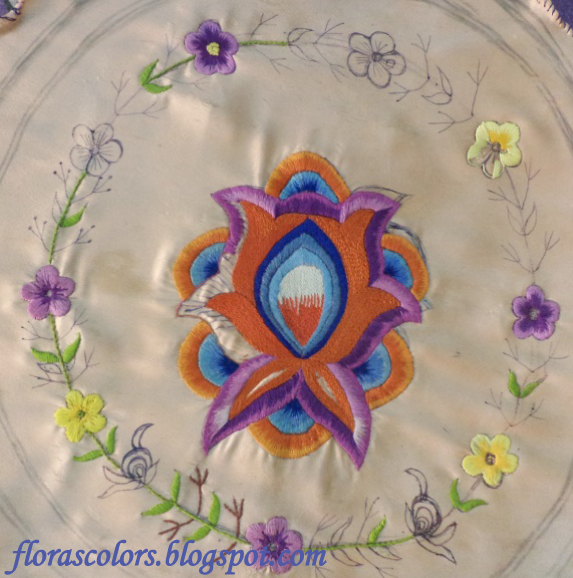 Floras Colors Ongoing Embroidery Projects