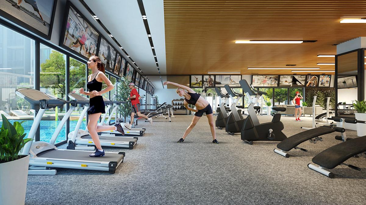 Tiện ích phòng tập gym chung cư Vincity Tây Mỗ