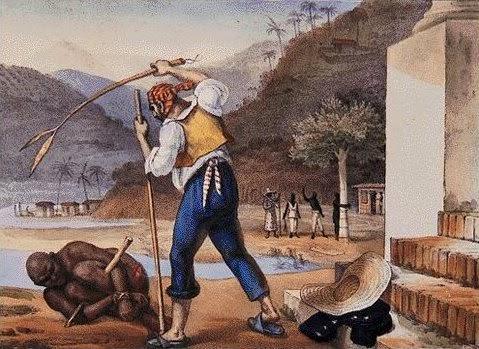 Castigo de Escravos - Debret, Jean-Baptiste  ~ Pinturas do Brasil colonial