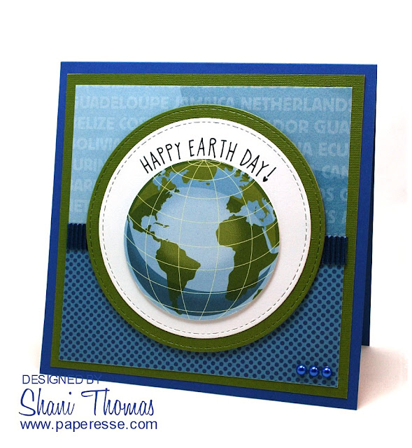 Happy Earth Day card, by Paperesse.
