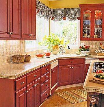 Modern Furniture: Red Kitchen Decorating Ideas 2012