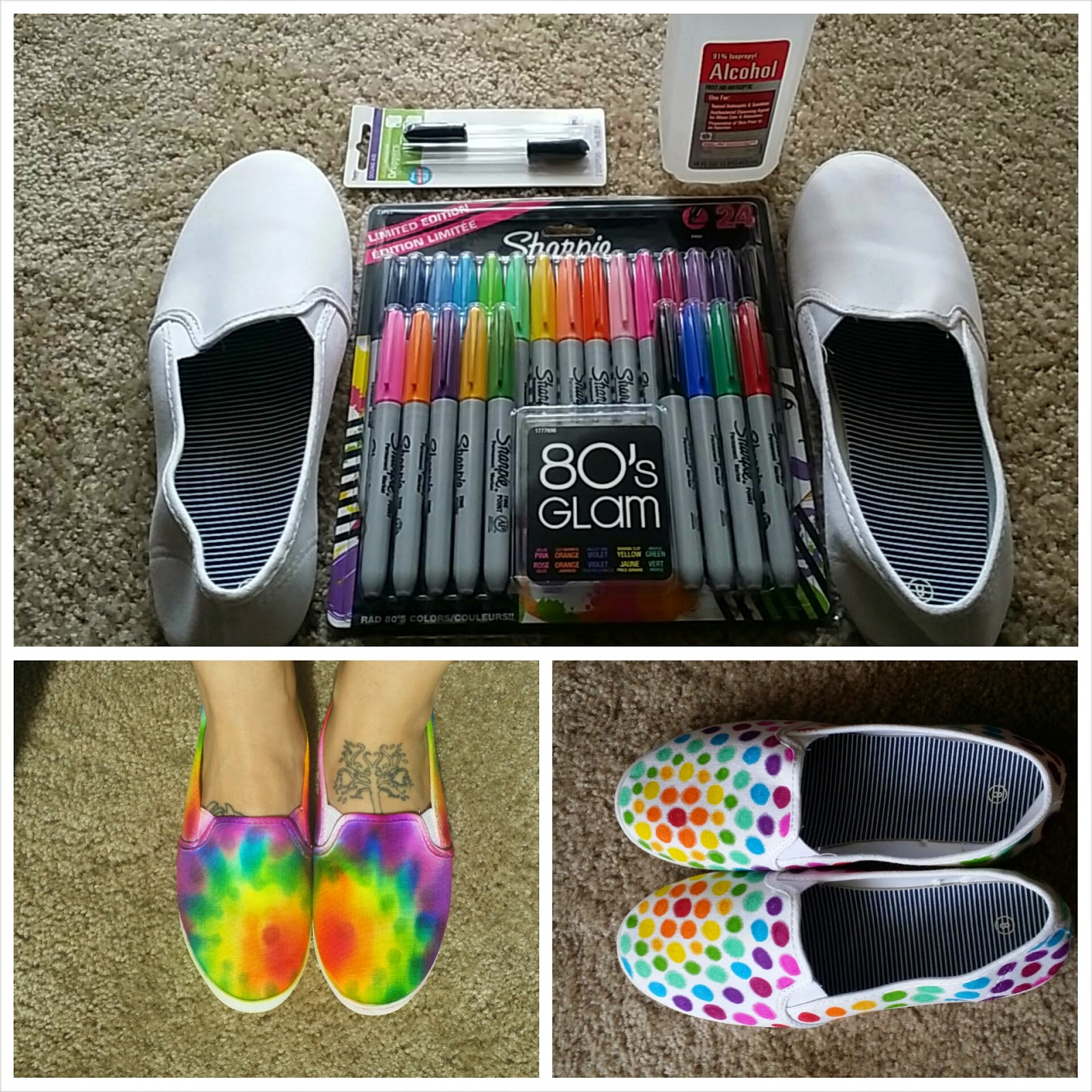 Made In Michigan: DIY Tie Dye Shoes (with Sharpies