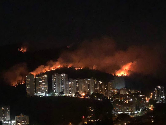 Manzanares arde por más de 24 horas - Bomberos sin recursos