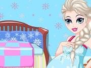 La Reina Elsa va a ser mamá! Vamos a jugar a este divertido juego de Elsa, en él debemos hacernos cargo del Cuidado durante el Embarazo. Ella puede tener antojos de ciertos alimentos donde debemos jugar un divertido juego de memoria y conseguir este alimento para ella. Después ayuda a preparar una taza de jugo y mientras le damos un masaje relajante. Finalmente Elsa debe visitar el hospital para su chequeo maternal de rutina. Por fin, Elsa va a saber si su bebé es un niño o una niña.