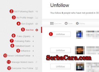 Unfollow Twitter Tools