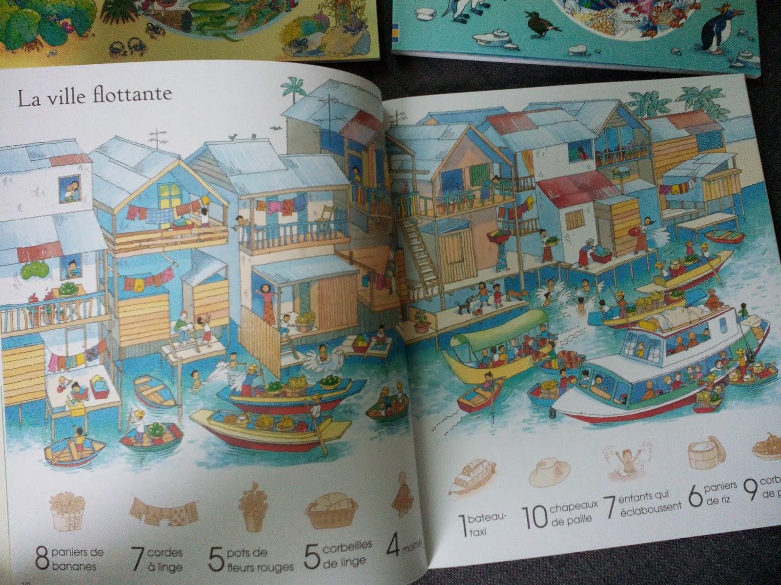 1001 choses à trouver : En ville - A travers le temps - Animaux - Dans la  mer