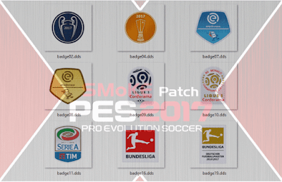 PES 2017 Badges Update Only for Smoke Patch 9.6.2 by Facuelpiojoso87