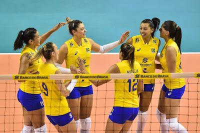 Brasil vence Polônia em amistoso seleção brasileira de vôlei feminino