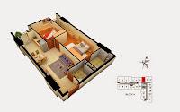 Thiết kế căn 15 tòa A chung cư Gemek Tower