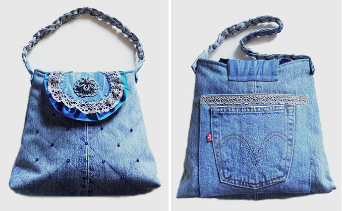 Flap Bag of Old Jeans Tutorial. ~ DIY Tutorial Ideas!