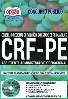 Apostila CRF-PE 2018 - Assistente Administrativo Operacional