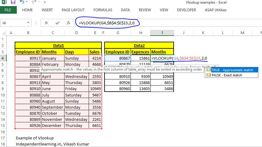 Vlookup_example_how_to_use_Vlookup_uses_independentlearning.in_learn excel online