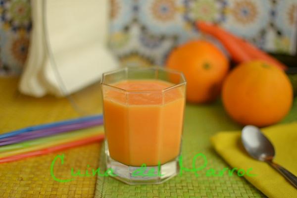Suc de taronja i pastanaga a la marroquina
