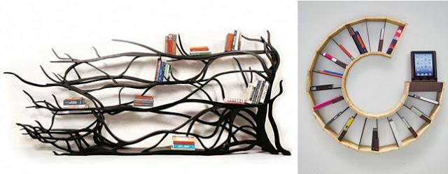 Modelos de estantes innovadores para libros - Estanterias diseno para libros ...