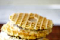 Pizzelle & Chocolate Hazelnut Ice Cream Sandwich