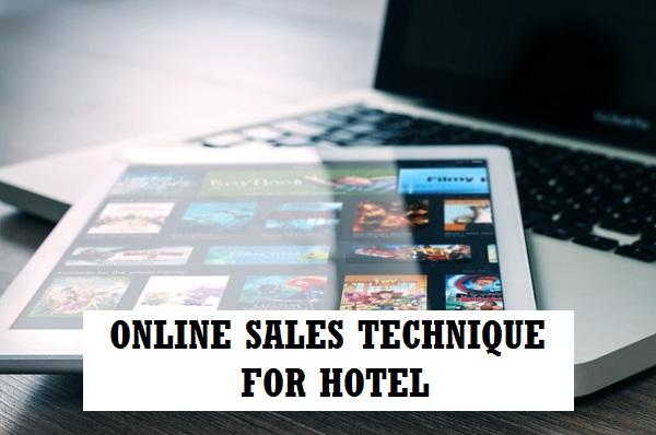 Online sales technique in hotel