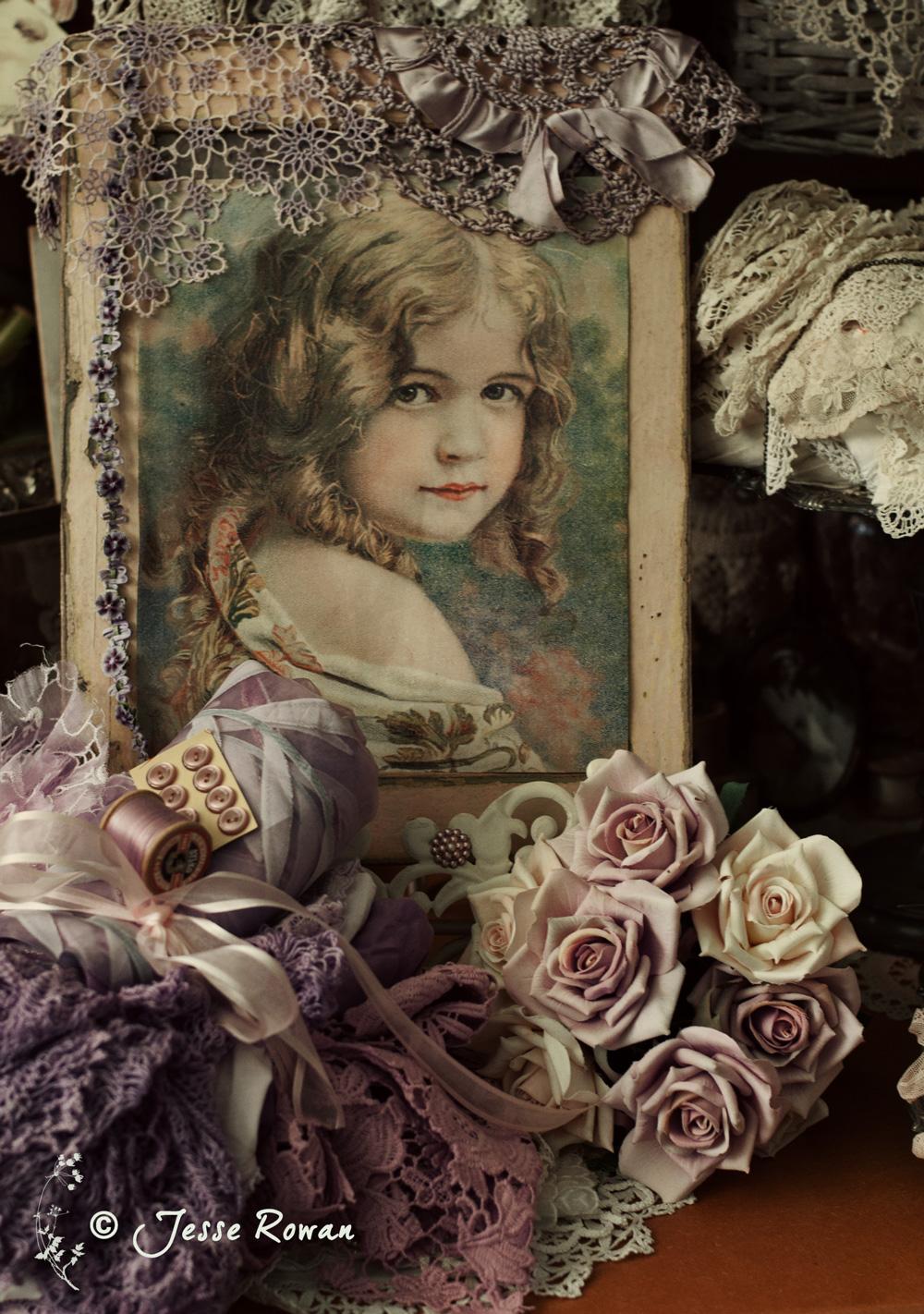 Vintage girl vignette by Jesse Rowan